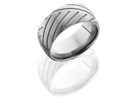 Titanium Band Style Ring with CycleTread Pattern by Benchmark