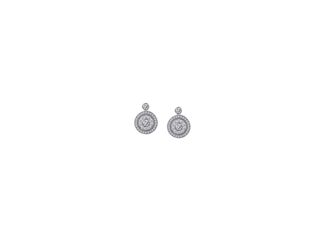 Sterling and CZ Drop Earrings - Sterling Silver and CZ Drop Earrings
