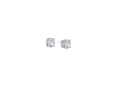 Sterling and CZ Stud Earrings - Sterling Silver and CZ Round Stud Earrings.  Available in Multiple Sizes.